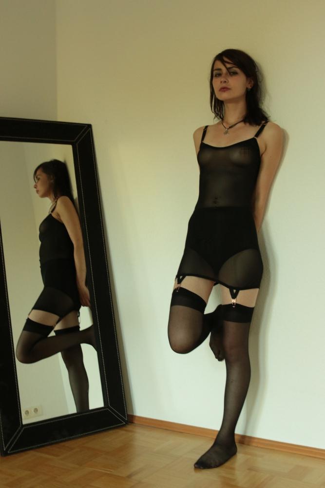 Strapskleid schwarz